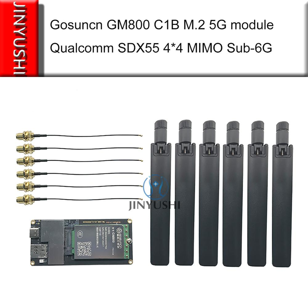 Gosuncn GM800 CIB M.2 5G وحدة كوالكوم SDX55 رقاقة تدعم SA NSA 5G NR/4G/3G 4*4 MIMO Sub-6G & mmWave LTE cat 22