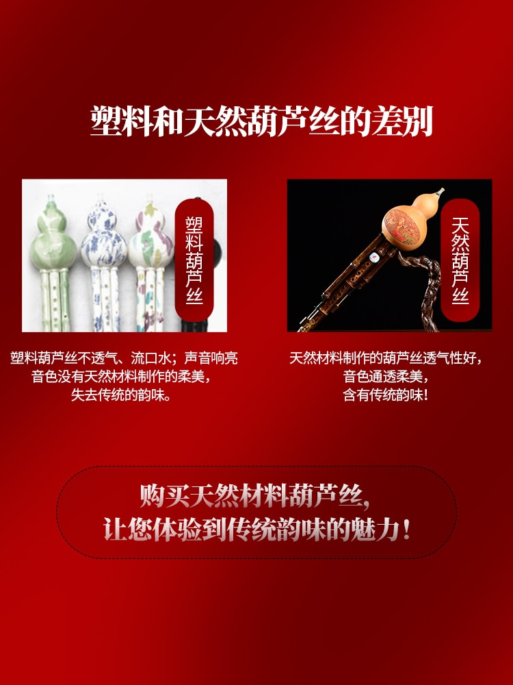 Cucurbit Flute Musical Instruments Beginner Children Elementary School Students Entry Male and Female Self-Study enlarge