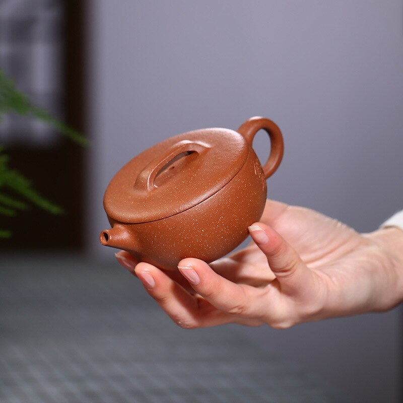 Yixing-إبريق شاي يدوي من الطين الأرجواني Zisha ، إبريق شاي واسع الفم ، صندوق هدايا