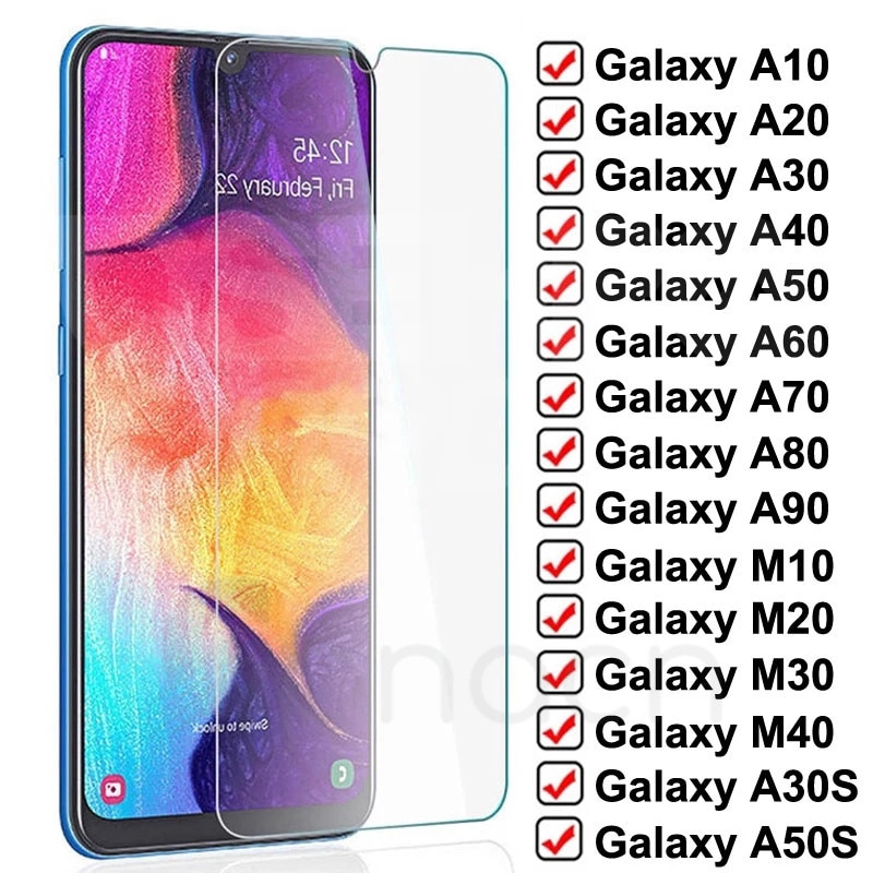 9D de vidrio protector para Samsung Galaxy M10 M20 M30 M40 de vidrio templado Samsung M10 M20 M30 M40 película de pantalla