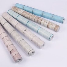 Papel tapiz de PVC grueso a rayas de madera, adhesivo impermeable autoadhesivo extraíble para pared, papel de contacto renovado para armario de puerta