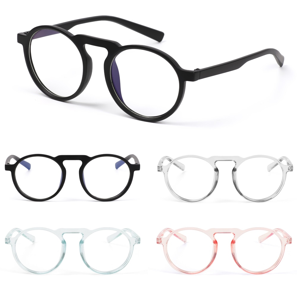 Anti Blue Ray Óculos de Armações de óculos Óptica de Jogos de Computador Azul Bloqueando a Luz Óculos Transparentes Óculos Moldura Redonda