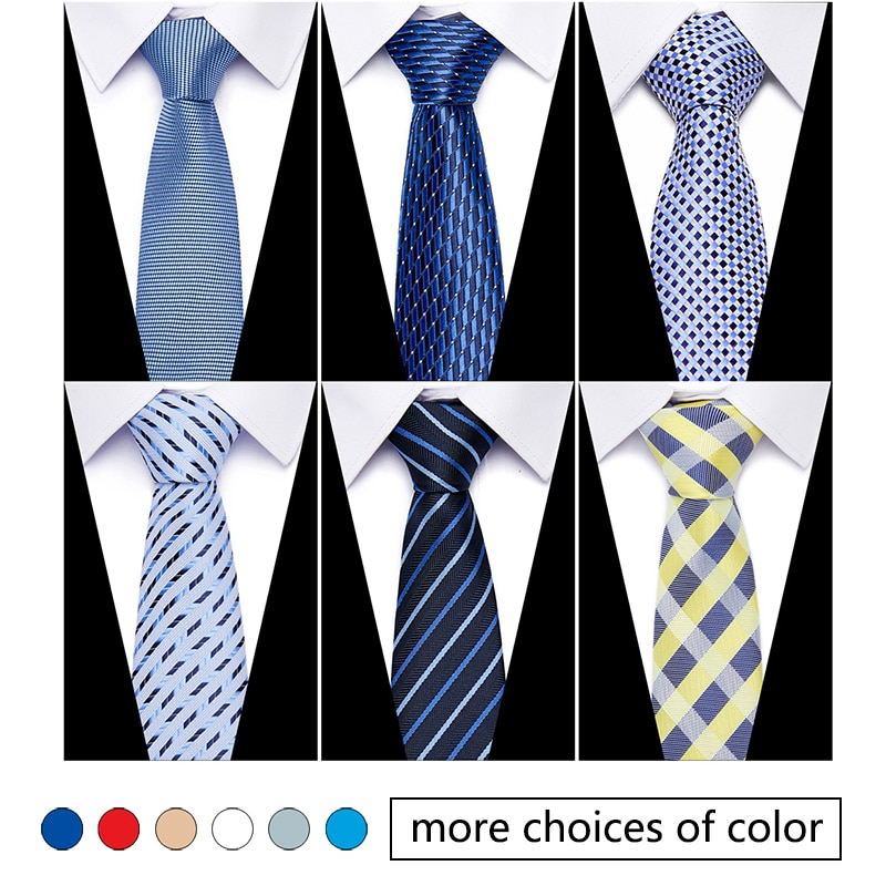 Gift Men solid blue Tie Navy Blue Brown Striped Wedding pink plaid For Quality silk necktie New Designer Business