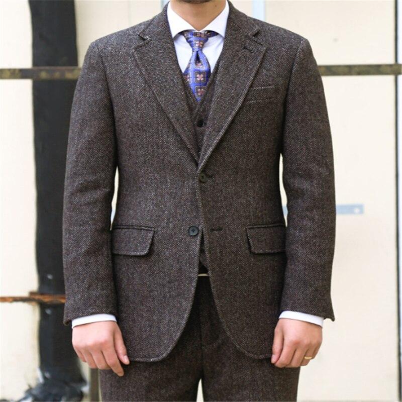 Nueva llegada padrino muesca solapa novio esmoquin dos botones hombres trajes de...
