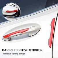 4pcs universal car door edge protector anti collision strip bumper guard stickers car door crash bar auto exterior accessories
