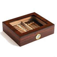 ADMY cèdre bois cigare voyage boîte à cigares Portable étui à cigares avec humidificateur hygromètre cigare humidificateur Sigaren boîte pour cigares