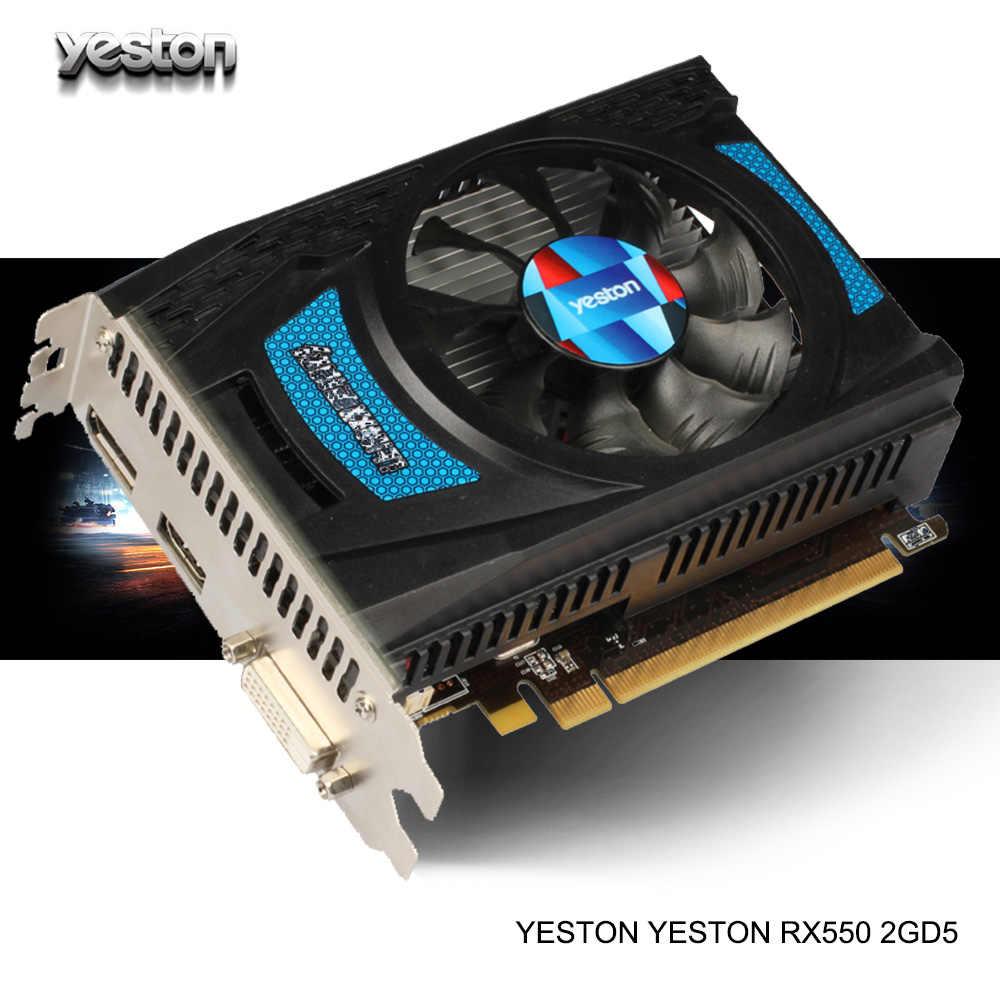 Yeston Rx 550 2g D5 Ta Graphic Card Video Card Radeon Chill 2gb Memory Gddr5 128bit 6000mhz Dp Hd Dvi D Small Size Gpu For Pc Graphics Cards Aliexpress