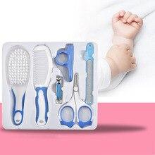 6 sztuk/zestaw obcinacz do paznokci dla dzieci zestaw do pielęgnacji zdrowia zestaw do pielęgnacji zdrowia przenośne noworodka paznokci Clipper włosów grzebień paznokci podnośniki