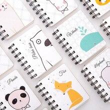 1pcs Cute Animal Mini Notebook Cartoon Cat Panda Pocket Notepad Paper Journal School Supplies Stationery Gift