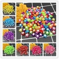 new 50pcs 9x9mm pentagram beads acrylic spacer beads fit diyjewelry making bracelet accessories