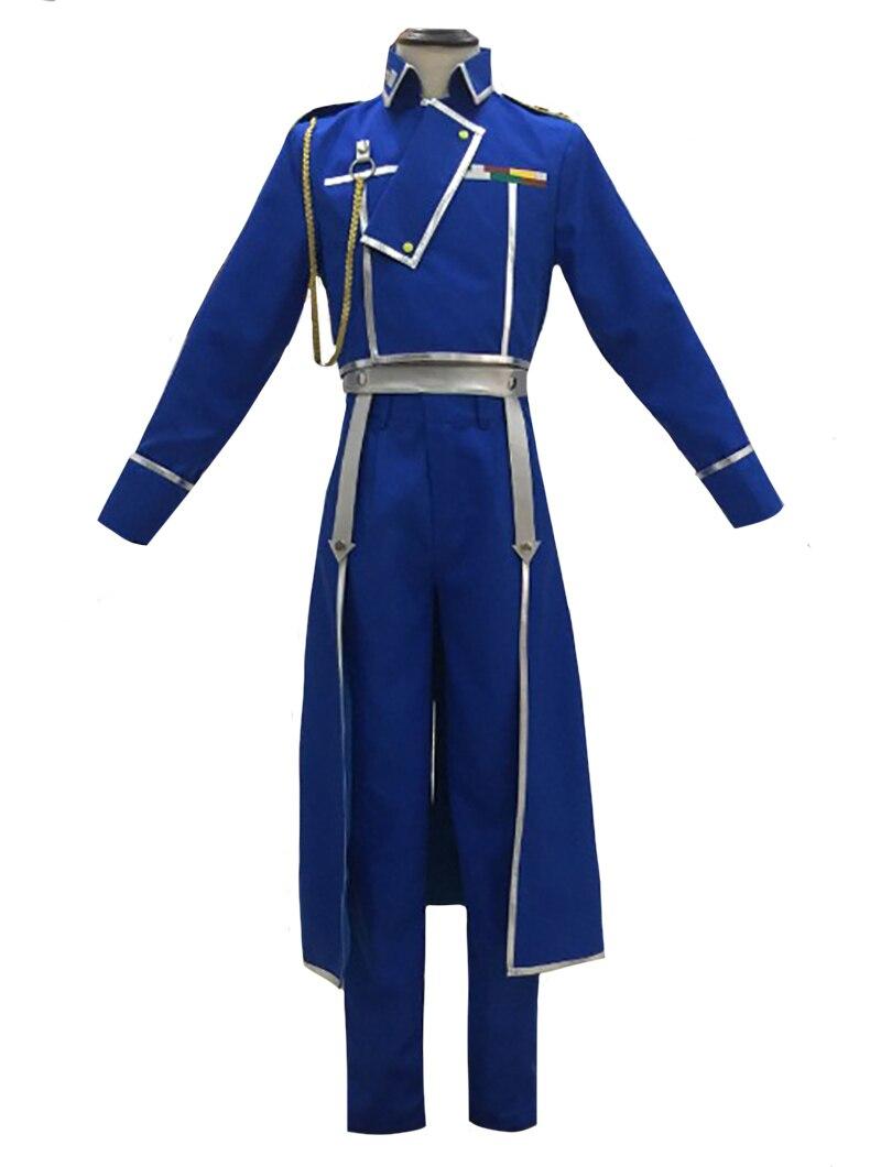 Disfraz de Cosplay de Metal completo de alquimista Roy Mustang, traje de uniforme militar