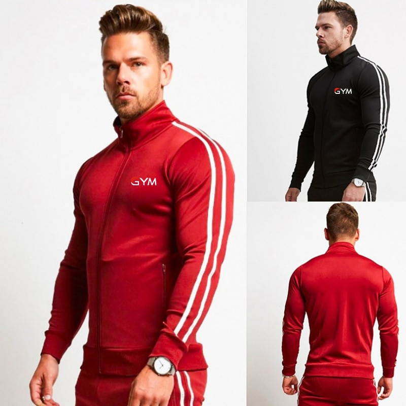 جديد 2021 الموسم الموضة الترفيه الرجال دعوى طوق المطبوعة سترة سستة رسائل الملابس الرجالية يمكن تخصيص الشعار