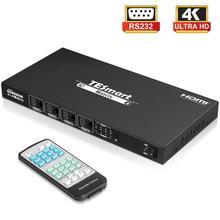 4x4 HDMI matrice 4 en 4 sorties HDMI répartiteur de commutateurs Ultra HD 4K matrice HDMI 4 Ports RS232 LAN sans HDCP
