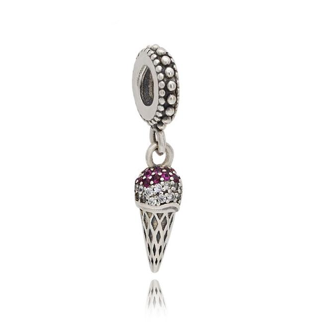 Cuentas de plata esterlina 925 para fabricación de pulseras Pandora, abalorios colgantes...