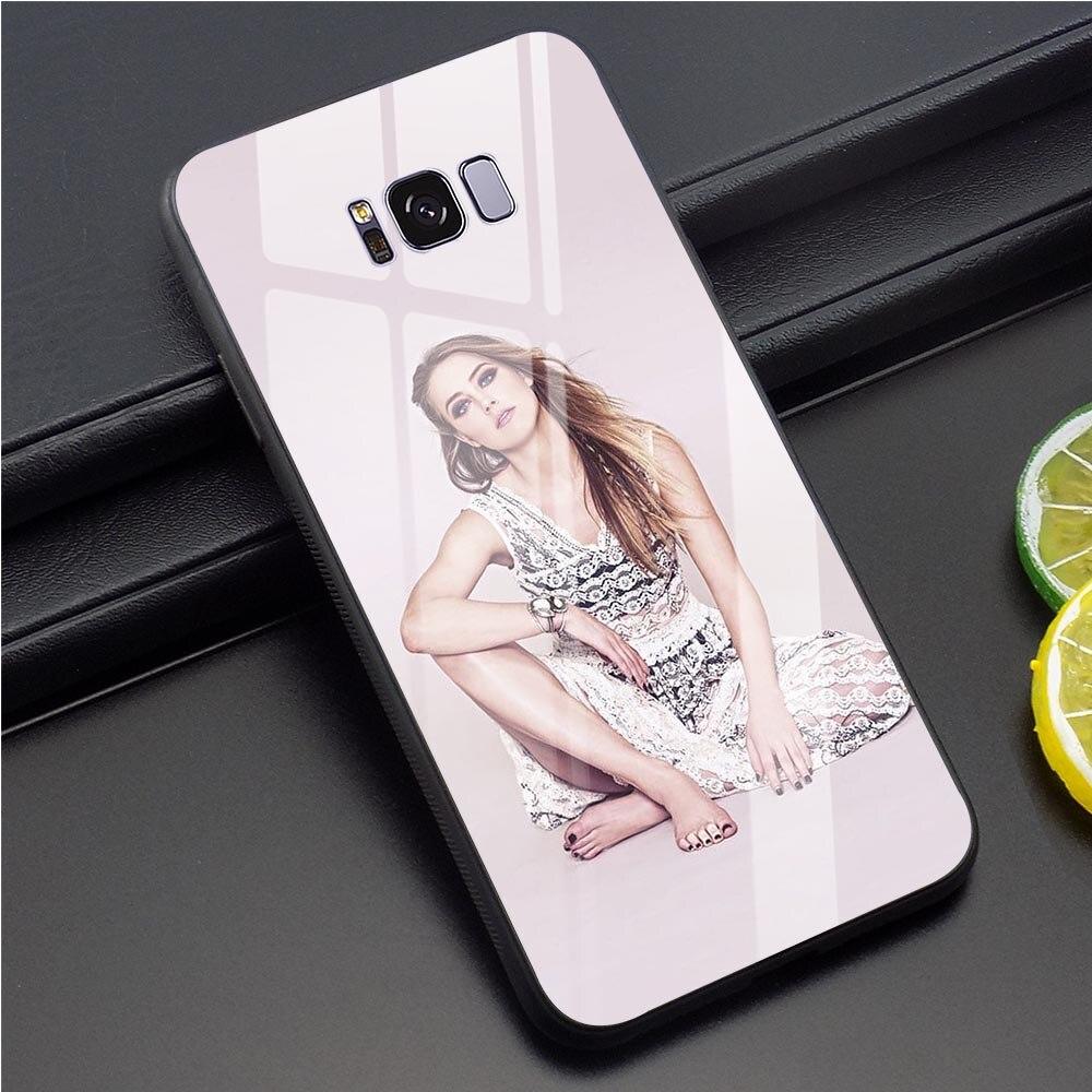 Tampa Do Telefone para Samsung Galaxy Caso S7 S7 Amber Heard Borda S8 S9 Plus S10 A70 A60 M40 A50 A40 A20 A30 A10 Vidro