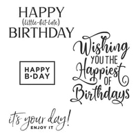 clear stamps happiness of birthday celebration for diy scrapbook photo album craft card 2021 new