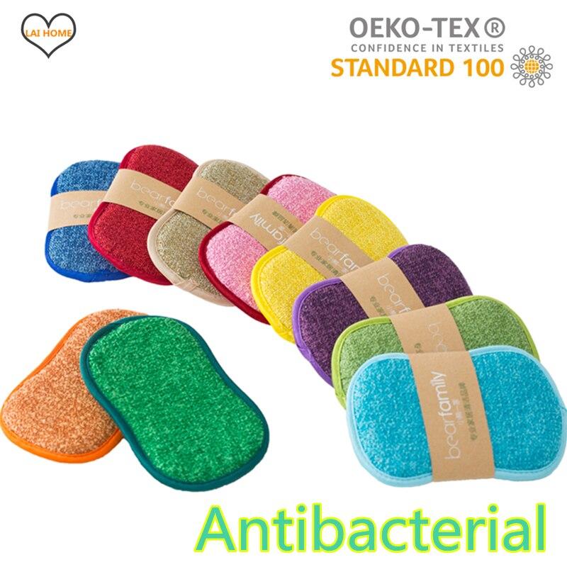 10PCS Cleaning Microfiber Sponge for Dishwashing Kitchen Bathroom Rust Removing Clean Cloth Eraser Eco-friendly Magic Sponge Diy