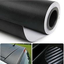 Feuille de Film autocollant en vinyle   Autocollant mat, Texture 3D Fiber de carbone, 30cm X 127cm, 1 pièce, livraison gratuite