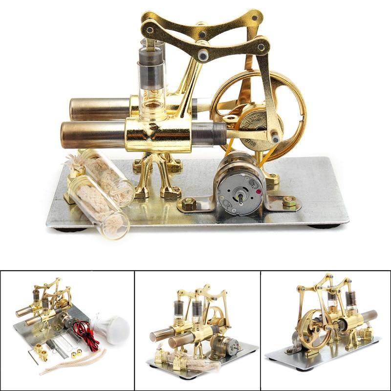 Balance Stirling engine miniature model steam power technology scientific power generation experimental toy stirling engine generator engine micro engine model steam engine hobby birthday gift