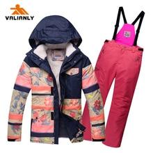 2020 Kids Girls Winter Ski Suit Thicken Ski Suits Outdoor Snowsuit Skiing Jacket Pants Waterproof Children Snow Sets Snowboard