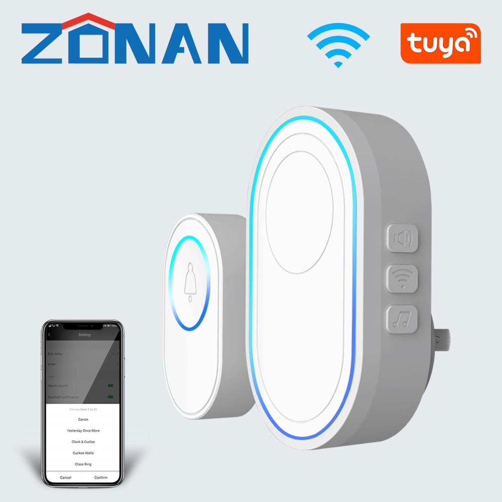 AliExpress - Smart Home Wifi Tuya Doorbell Alarm System 58 Sound Compatible  Apartment Bell 433MHz Wireless Detectors Security Alarm