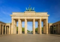 brandenburg gate germany metal tin sign wall poster plaque for home kitchen bar coffee shop brandenburg gate tin sign 12x16 inch