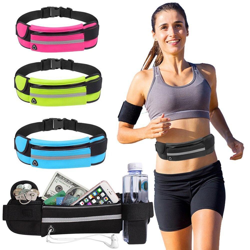 Sac de sport en cours dexécution sac de taille poche Jogging Portable étanche cyclisme Bum sac en plein air téléphone anti-vol Pack ceinture sacs D40