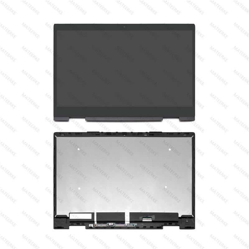 "Hp envy x360 용 15.6 ""ips lcd 디스플레이 터치 스크린 디지타이저 어셈블리 + 프레임 15m-bp011dx 15m-bp012dx 15m-bp111dx 15m-bp112dx"