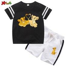 Conjunto de ropa para niños, camiseta de dibujos animados, camiseta de verano 2020, ropa para niños, camiseta + pantalón corto 2 uds, camisetas para bebés
