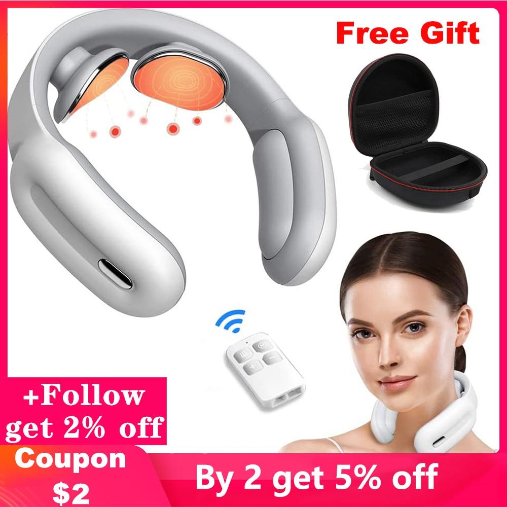 Masajeador de cuello inteligente, masajeador eléctrico de cuello, herramienta de relajación para...