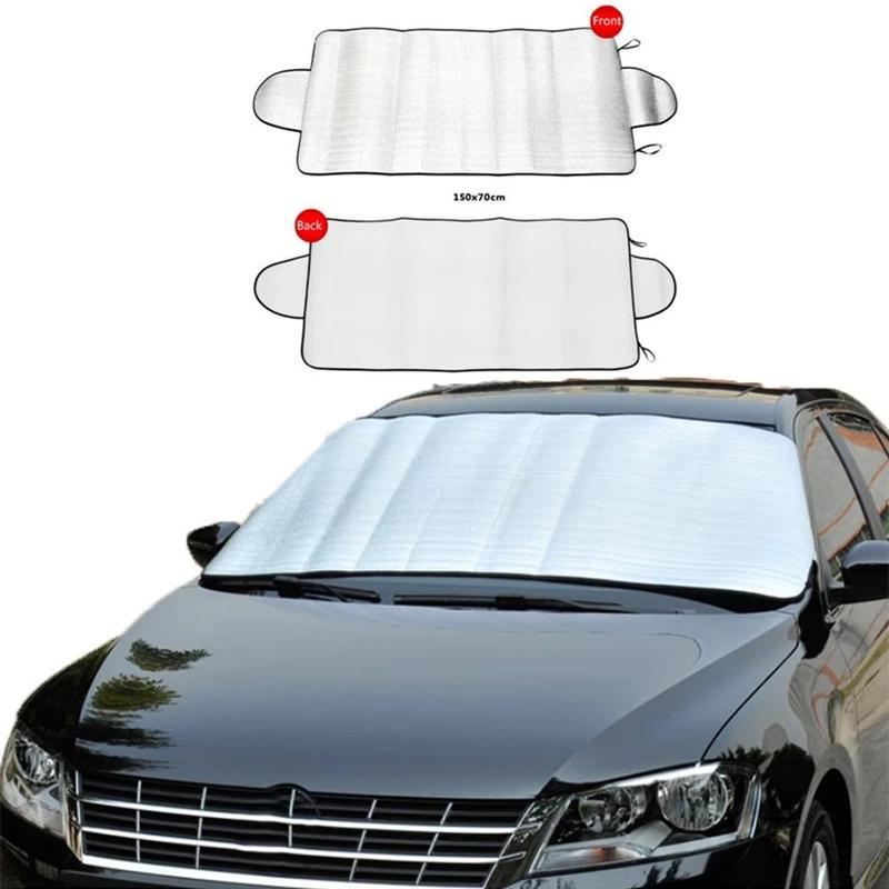 150cm x 70cm Portable Car Universal Sunscreen Windscreen Cover Heat Sun Shade Anti UV Frost Dust Protector Summer