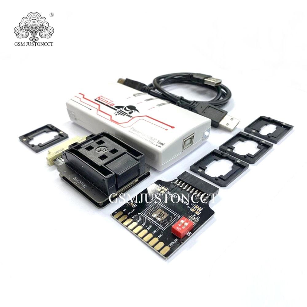 Original Miracle Ninja box Miracle box  with 4 in 1 emmc adaptor BGA eMMC 186 & 162 &221 & 169& 153 &254 enlarge