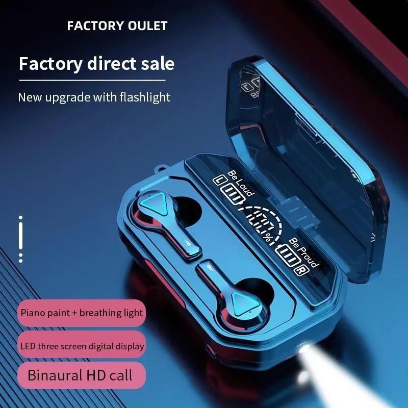 Wireless Earbuds Bluetooth Earphone 5.1 Wireless Headset Led Display With Flashlights IPX7 Waterproof HiFi Premium Sound Noise enlarge