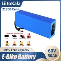 liitokala 60v 50ah electric scooter bateria 60v 50ah electric bicycle 21700 lithium battery scooter 60v 1000w ebike battery