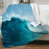 nknk waves blankets ocean bedding throw blue plush throw blanket street 3d print sherpa blanket animal vintage pattern cozy