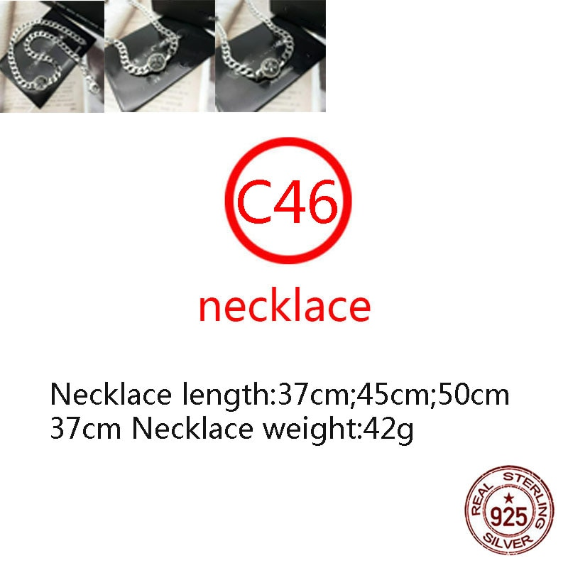 C46 S925 الاسترليني قلادة فضية الصليب ستة أشار ستار الشرير نمط الدورية شخصية الشرير شعبية سلسلة قصيرة شريط حول الرقبة