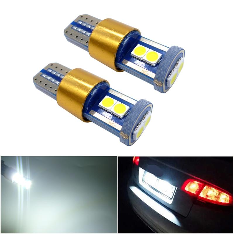 2pcs LED W5W T10 194 168 W5W 3030 6SMD Led Parking Bulb Auto Wedge Clearance Lamp CANBUS White blue License Light Bulbs 12V 24V