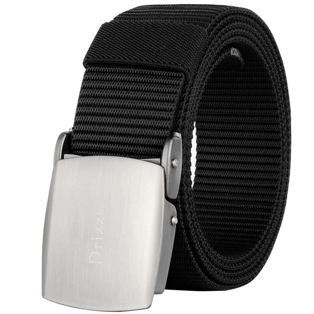Drizzte cinturones para hombre, cinturón táctico de nailon de talla grande W28-62, cinturón de servicio militar de 47 a 71 pulgadas para hombres grandes