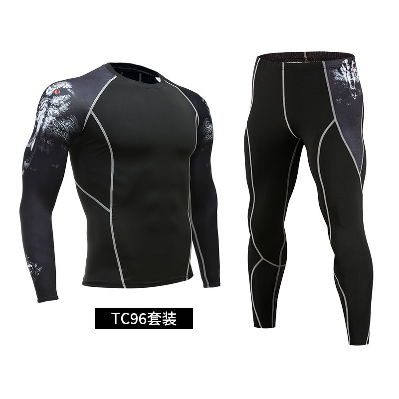 Men's sportswear 2021 new hot sale compression sportswear running tights gym sweat quick-drying running clothes sportswear 3XL