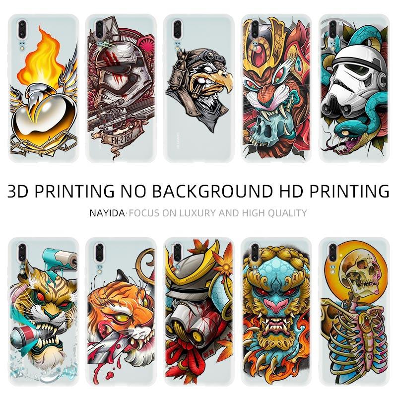 Funda del teléfono para Huawei P8 P9 Lite 2017 P10 P20 P30 Lite Plus Pro P Smart 2019 Z cubierta de Graffiti
