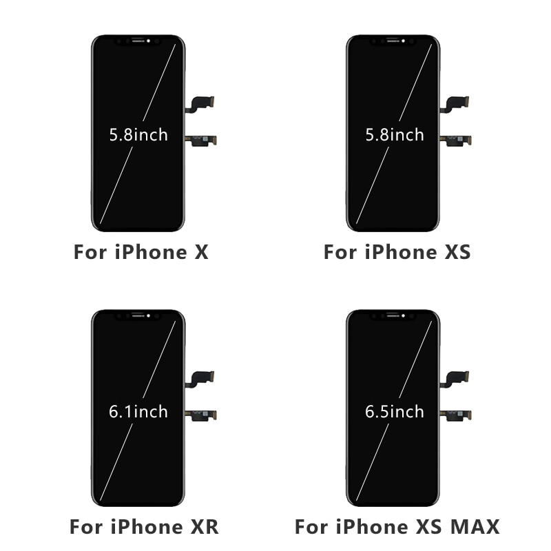 AAA+++ OLED for iPhone X Xs Max LCD Screen for iPhone 6 6s 7 7Plus 8 Plus Replacement Display  Tone for iPhone XR Screen enlarge