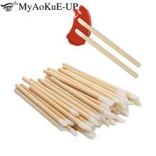 50pcs Disposable Make Up Lip Brush Lipstick Gloss Wands Applicator Makeups Lip Brushes Portable eyel