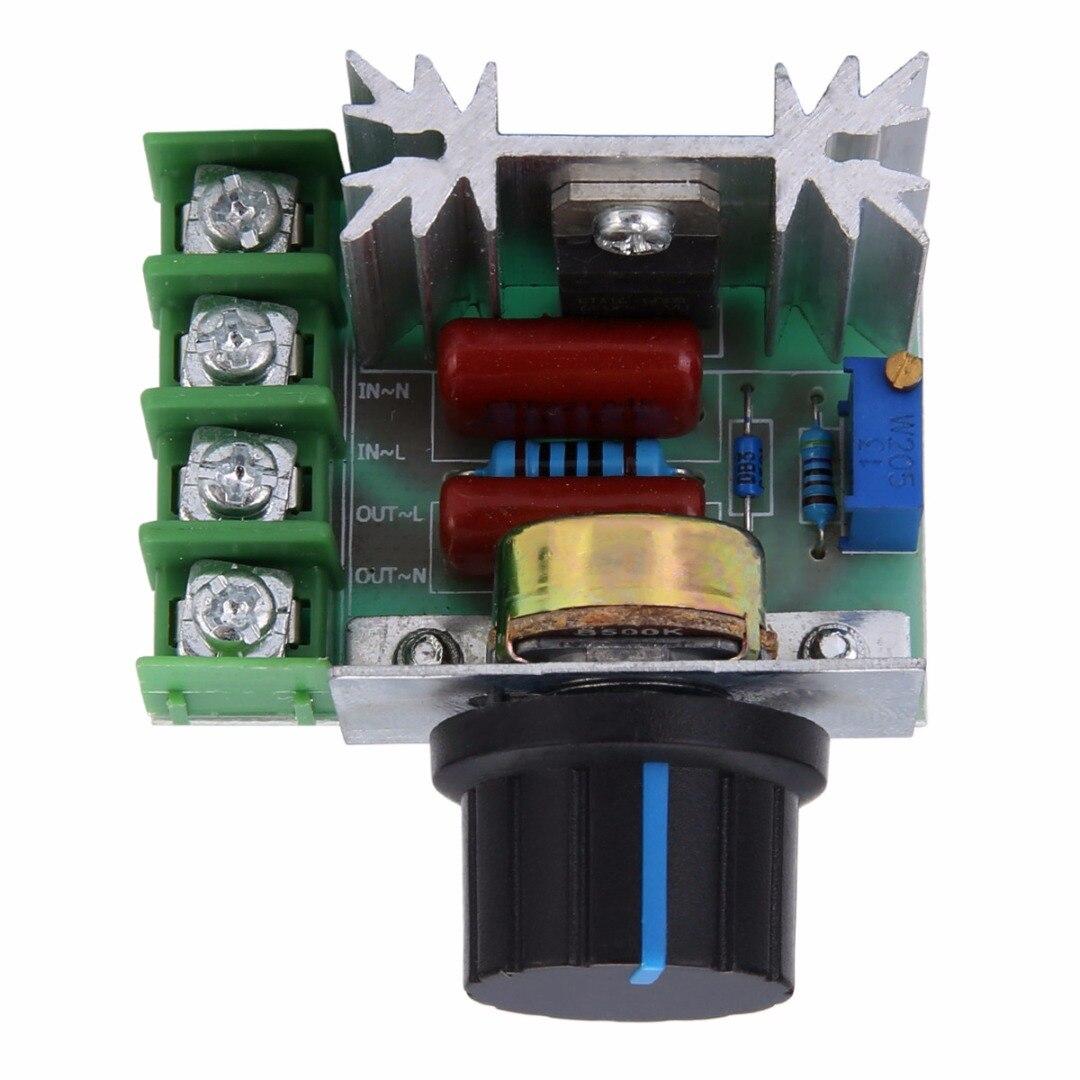 Nuevo regulador de voltaje protección de alta corriente 50-220V 2000W AC atenuadores SCR controlador interruptor de botón herramienta de Control de velocidad