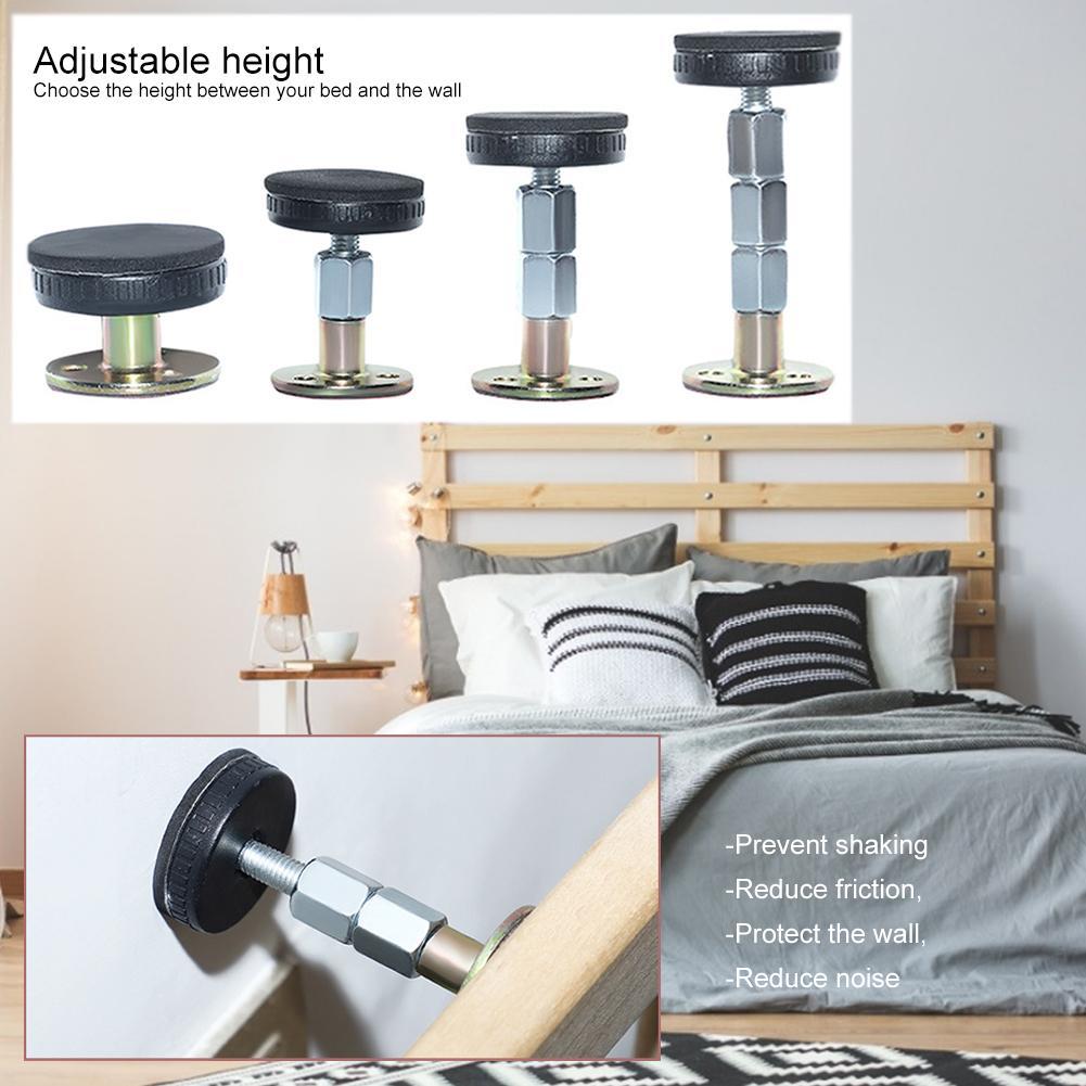2/8 pces cama estabilizador anti-agitação auto-adesivo ajustável porta rolha fixador ferramenta de suporte para móveis de parede sala