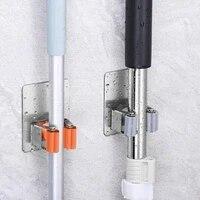 Crochets multi-muraux en acier inoxydable 304  crochet de suspension de balai  pour la cuisine et la salle de bains