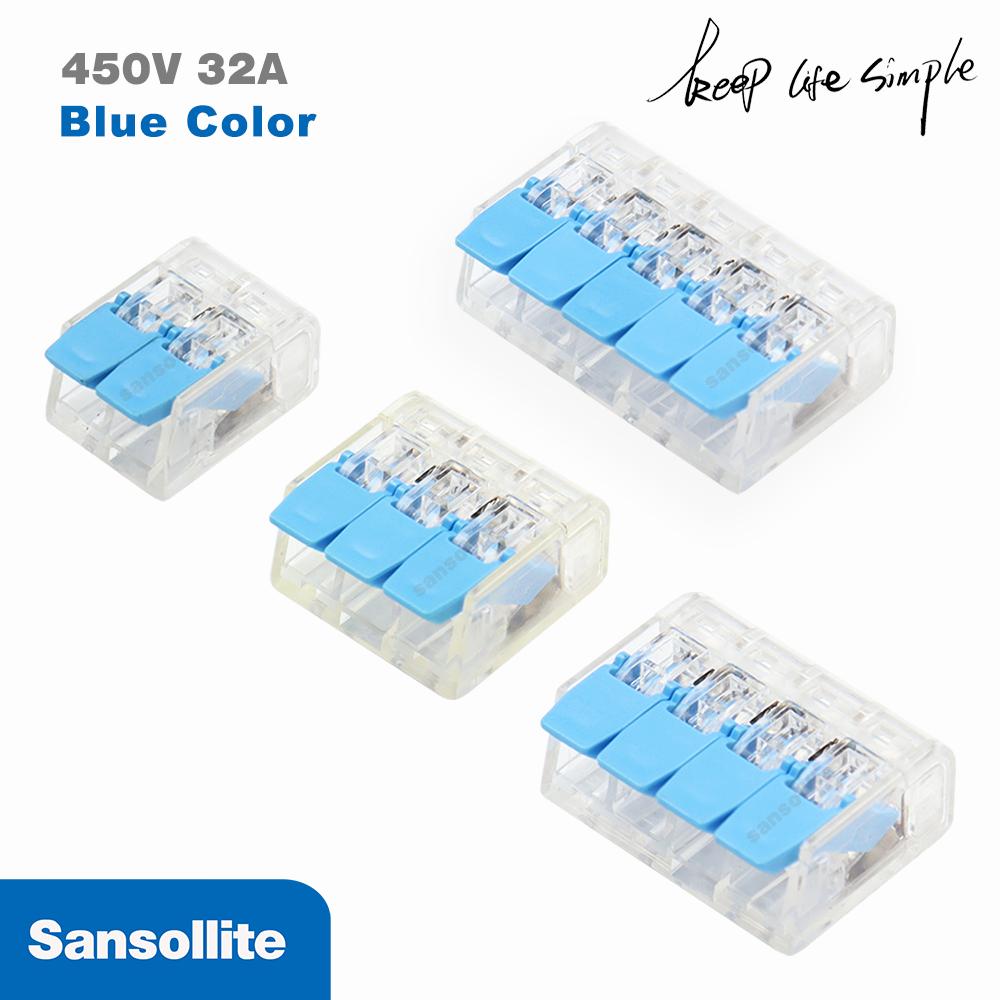 5 pces conector de fiação de fio compacto PCT-412/413/414/415 condutor universal bloco terminal threader splitter SPL-2/SPL-3