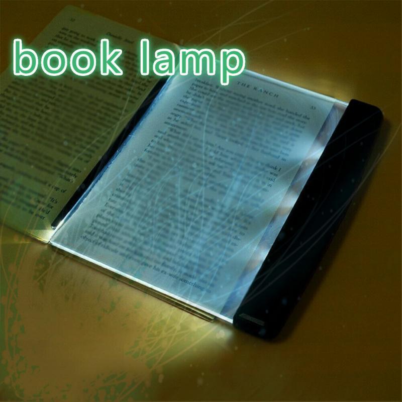 Creative Portable LED lámpara de mesa lámpara de libro cálida luz de noche lectura Led Placa de lámpara LED lámpara de escritorio protege sus ojos luces interiores