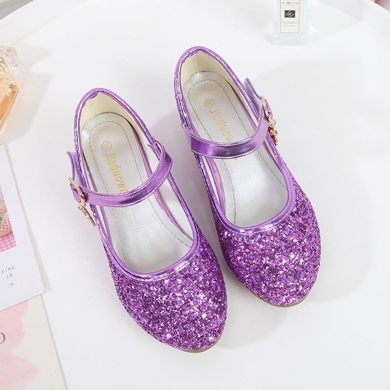 Фиолетовые туфли на высоком каблуке ULKNN для девочек, красные кожаные туфли принцессы, обувь для детской вечерние ринки, свадьбы, туфли с круглым носком 1 3 см Кожаная обувь    АлиЭкспресс