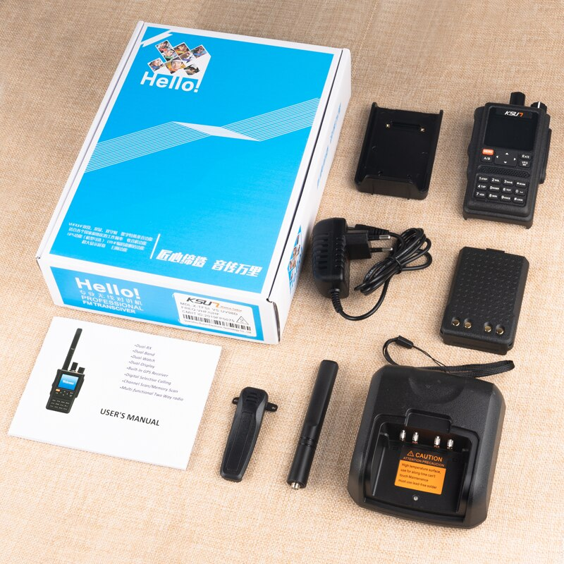 KSUN UV98D GPS Walkie Talkie Six Bands Frequency VOX SOS 10km Two Way Radio Uhf Vhf Scanner Talkie Walkie Long Range Comunicador enlarge