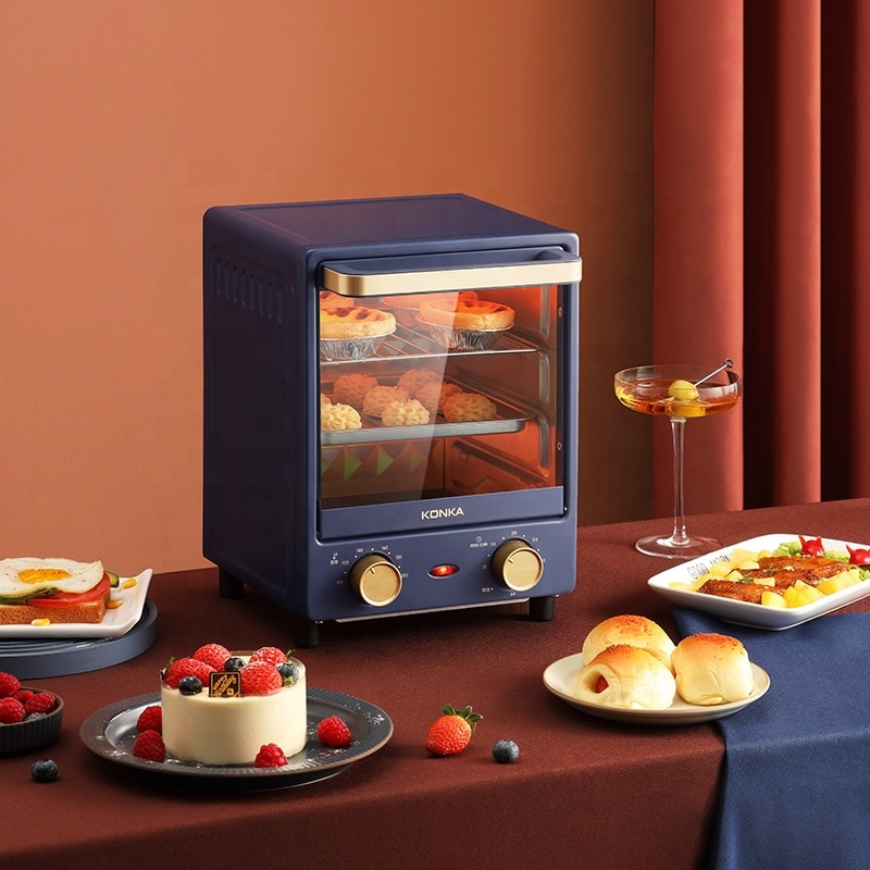 Electric Oven 3 Layers Timed 100 ℃ -200 ℃ Mini Vertical Small Oven for Home 12L Frying Pan Baking Machine forld Pizza Maker